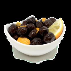 Oliwki czarne z pomarańczą bio